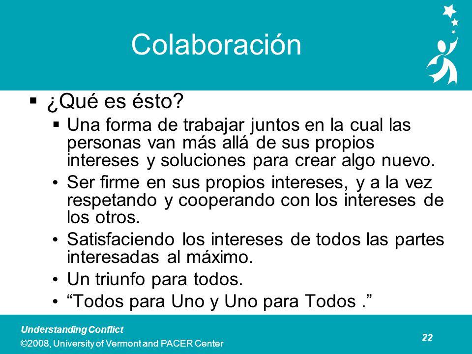 Colaboración Colaboración es Mejor Usado Cuando: