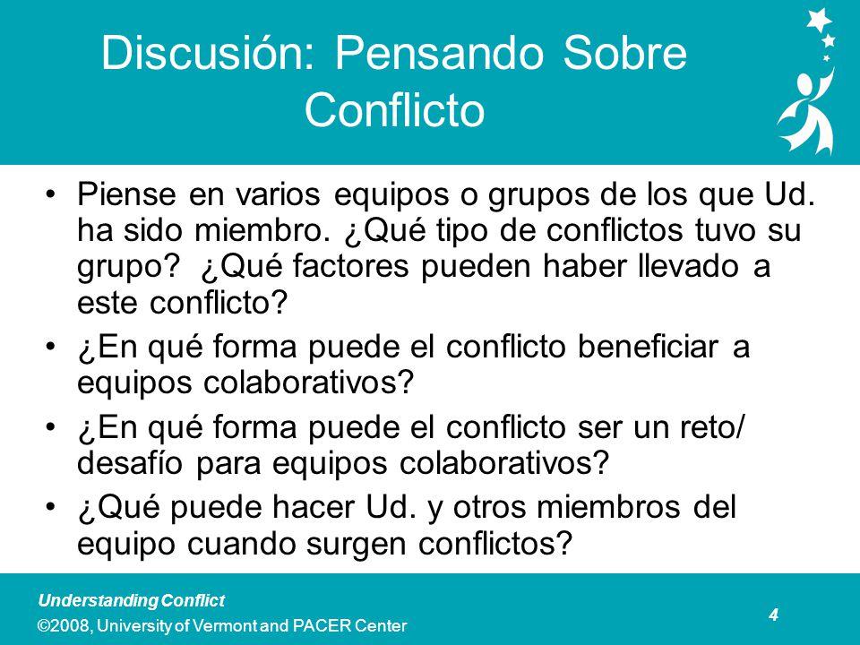 Reseña de los Cinco Estilos de Respuesta al Conflicto