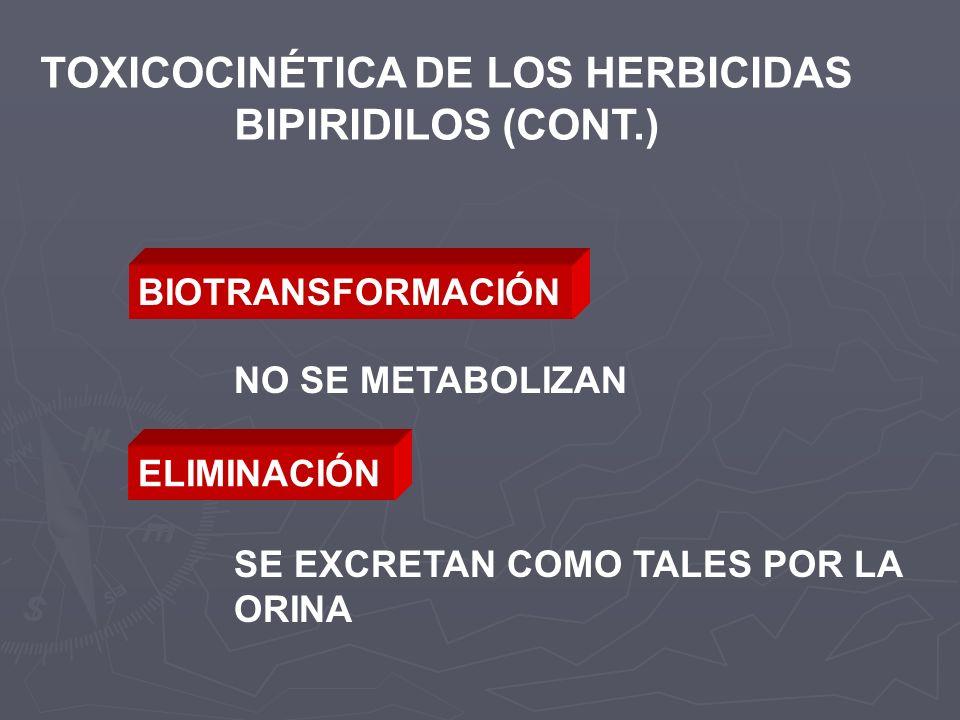 TOXICOCINÉTICA DE LOS HERBICIDAS