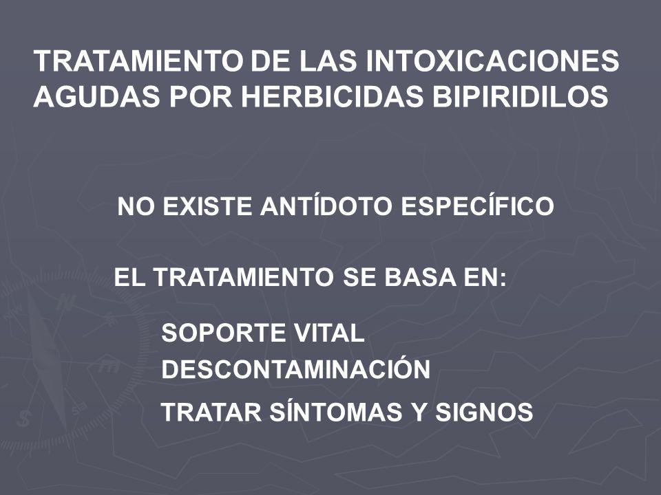 TRATAMIENTO DE LAS INTOXICACIONES AGUDAS POR HERBICIDAS BIPIRIDILOS