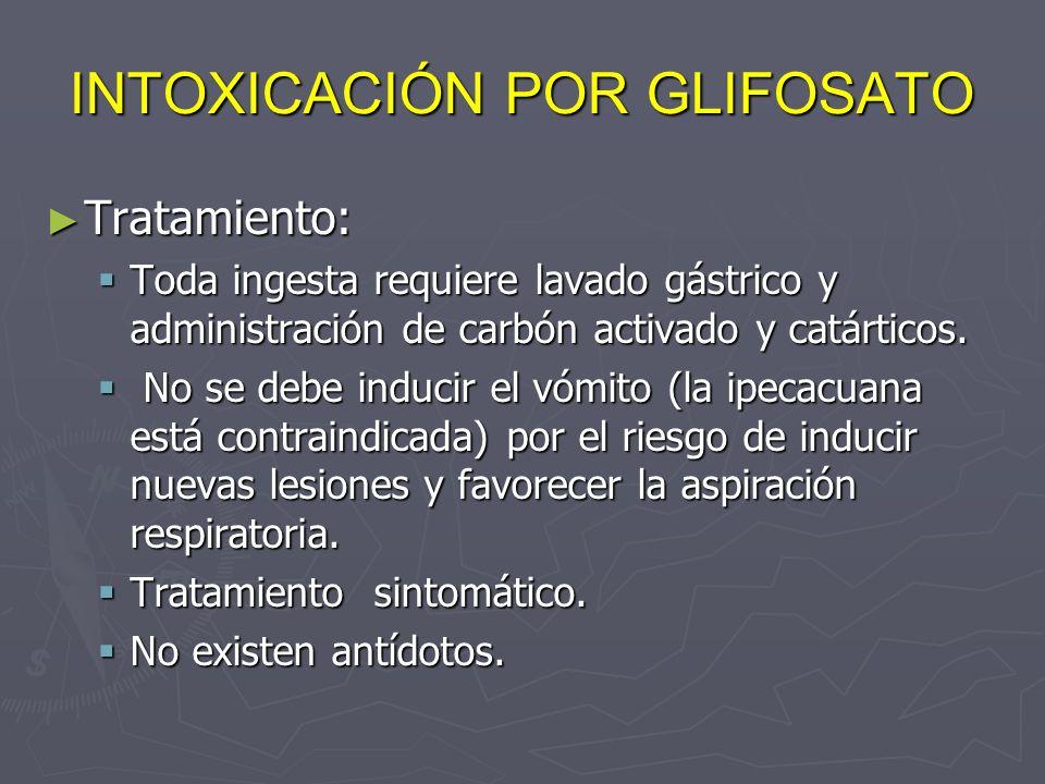 INTOXICACIÓN POR GLIFOSATO