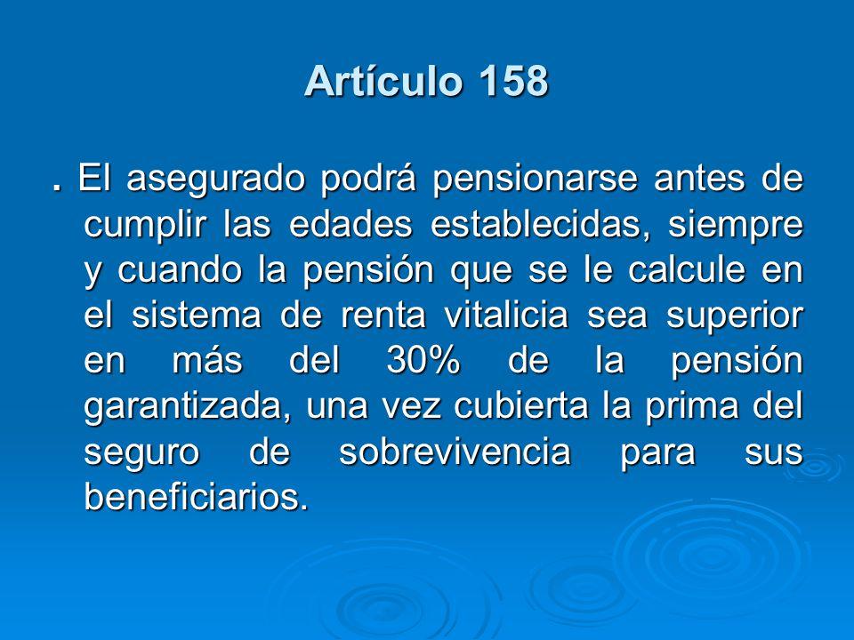Artículo 158