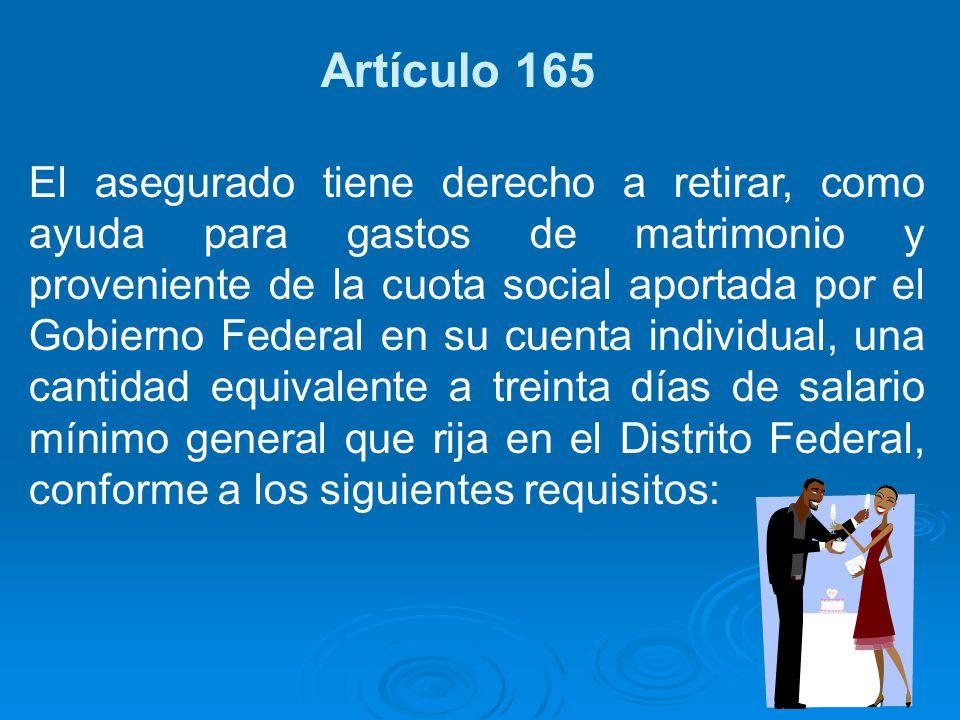 Artículo 165