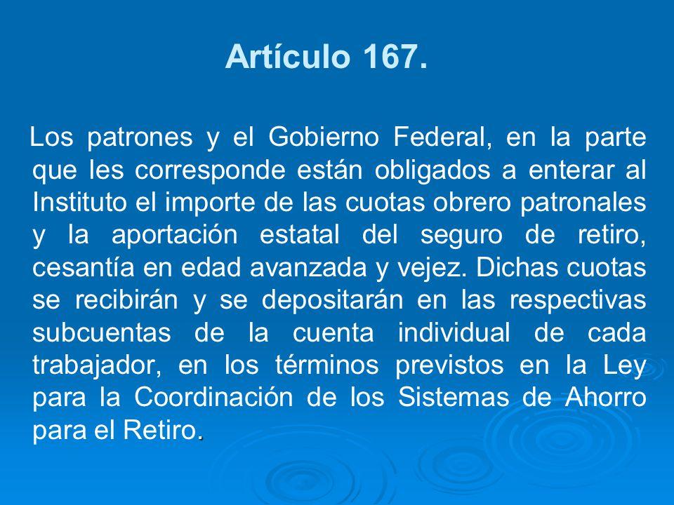 Artículo 167.