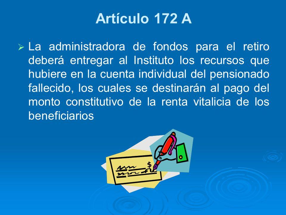 Artículo 172 A