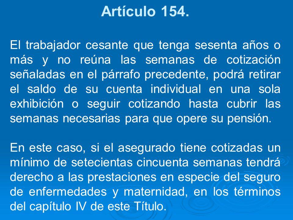 Artículo 154.