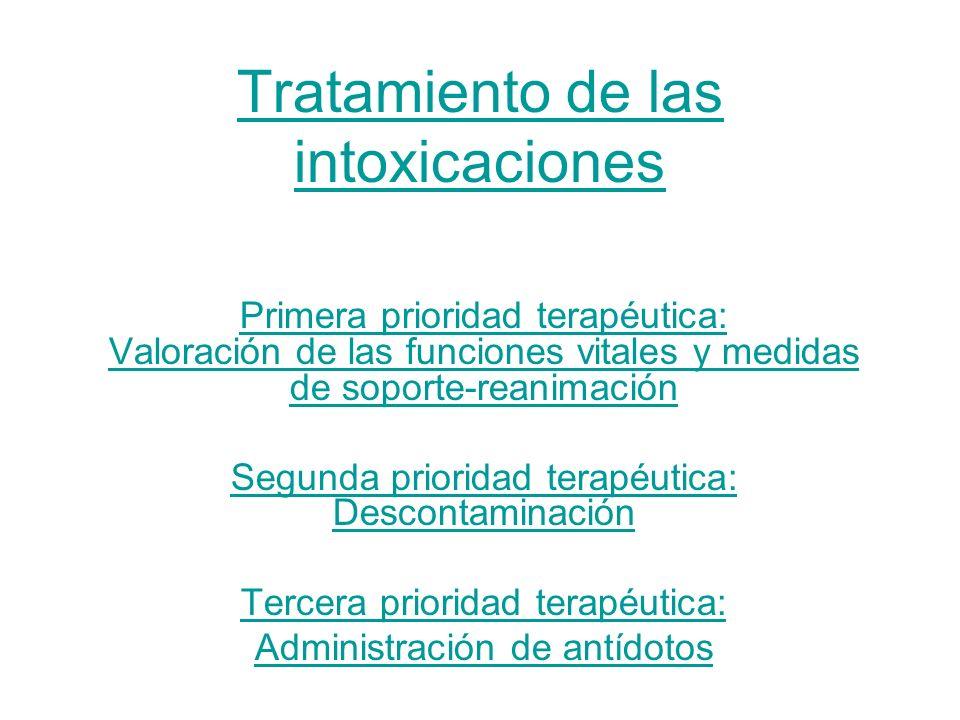Tratamiento de las intoxicaciones