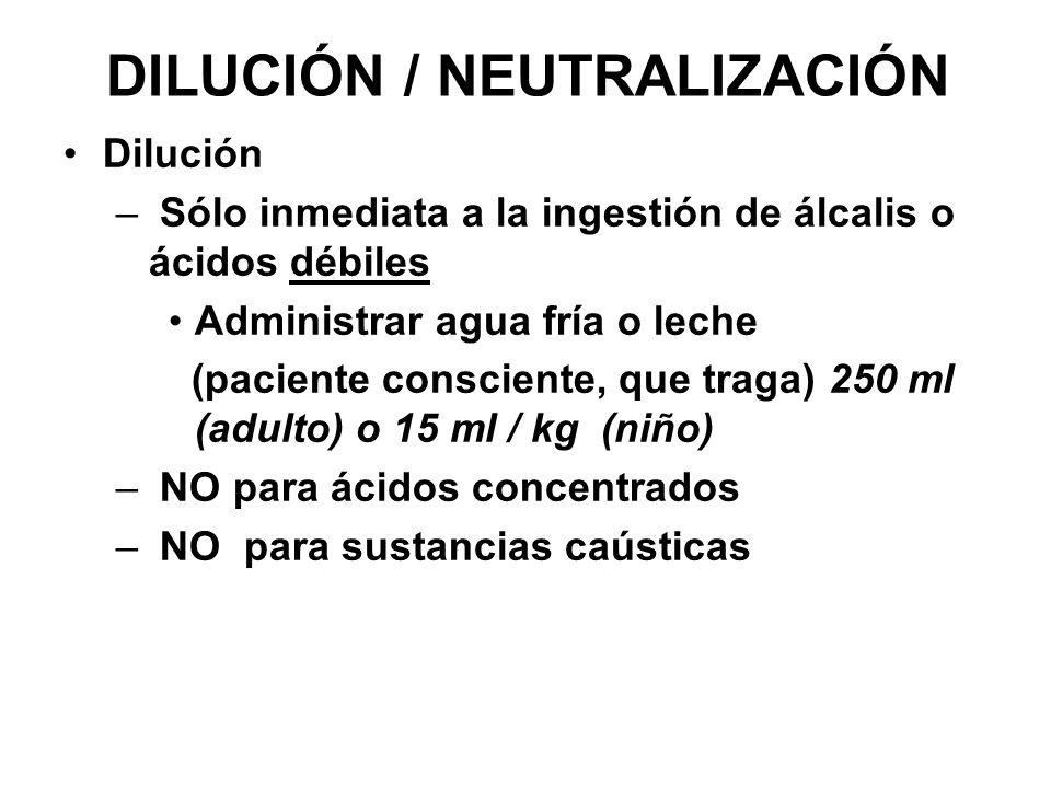 DILUCIÓN / NEUTRALIZACIÓN