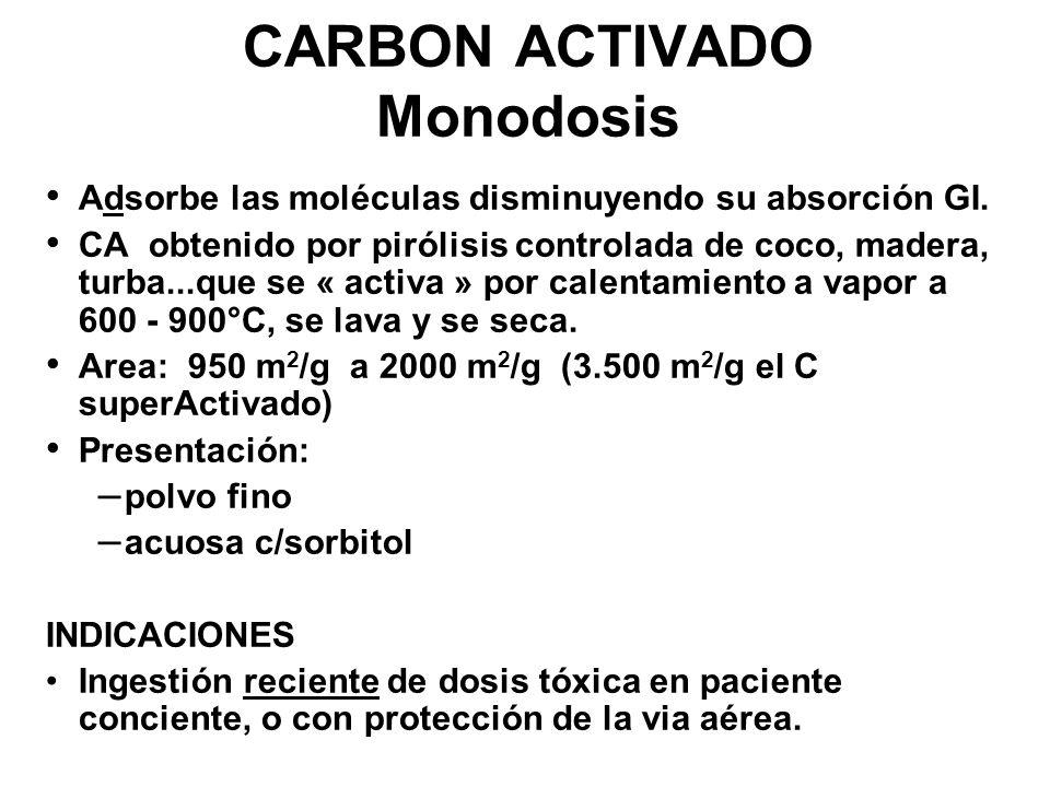 CARBON ACTIVADO Monodosis