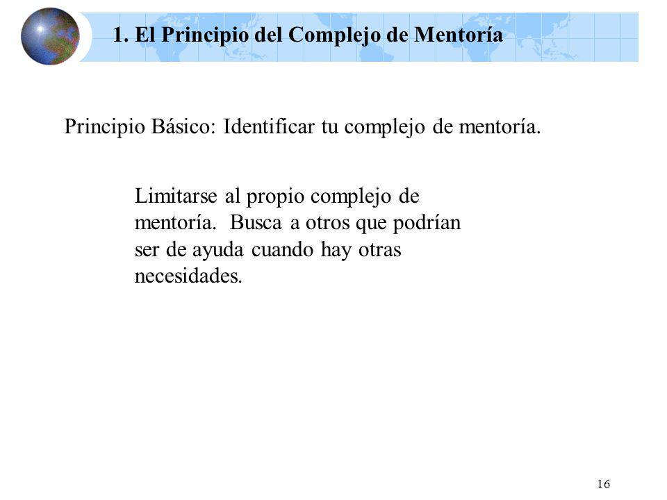 1. El Principio del Complejo de Mentoría