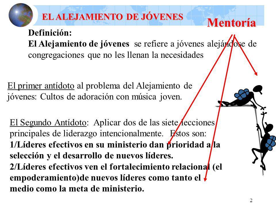 Mentoría EL ALEJAMIENTO DE JÓVENES