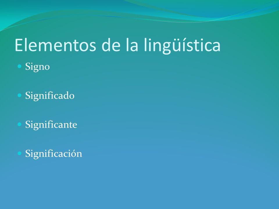 Elementos de la lingüística