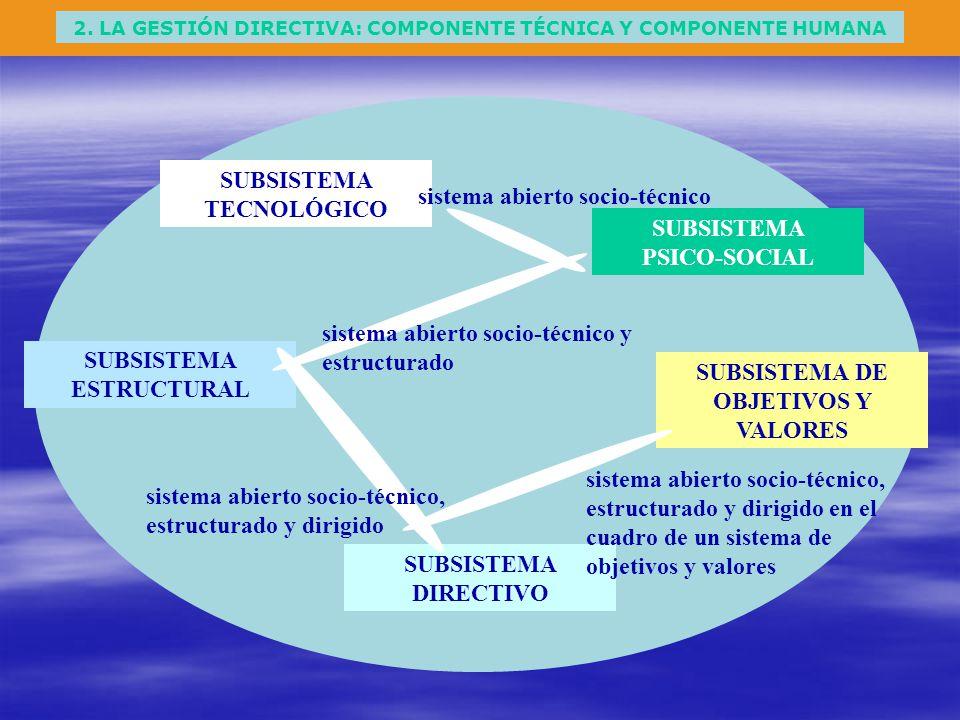 SUBSISTEMA TECNOLÓGICO sistema abierto socio-técnico