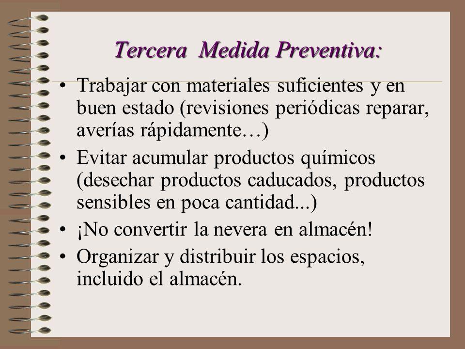 Tercera Medida Preventiva: