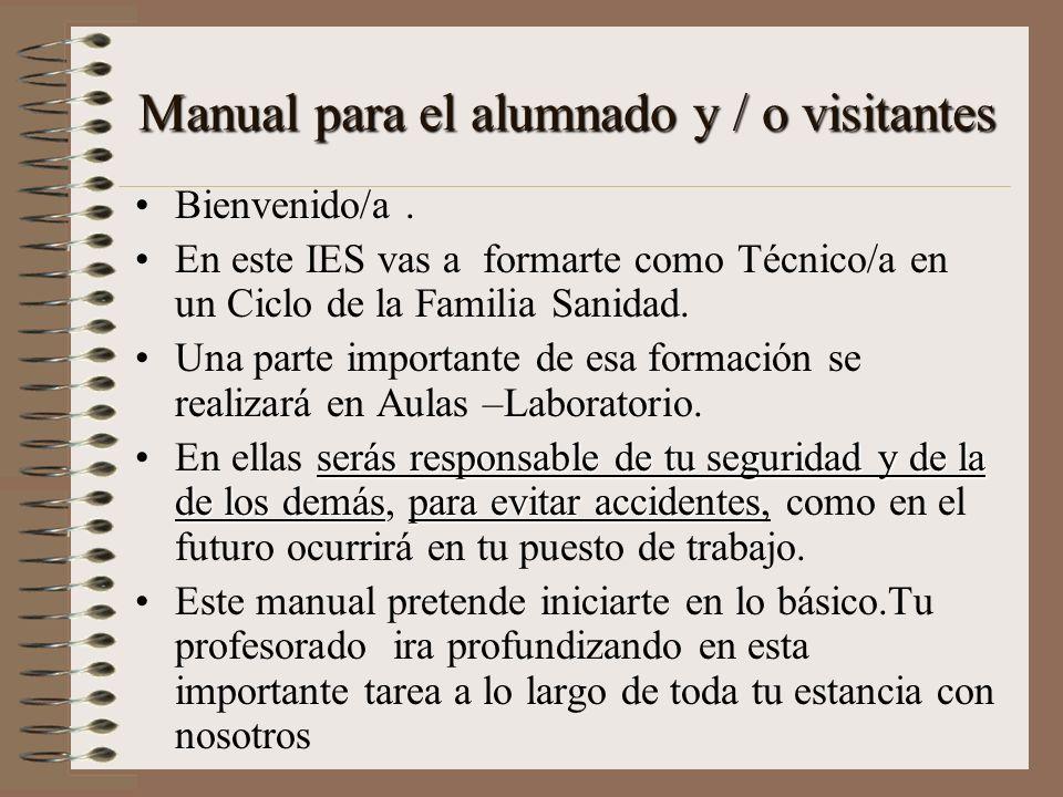 Manual para el alumnado y / o visitantes