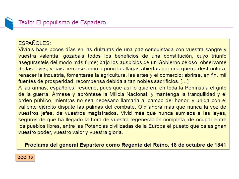 Texto: El populismo de Espartero