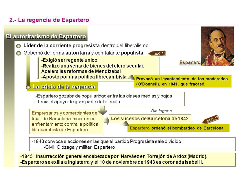 2.- La regencia de Espartero