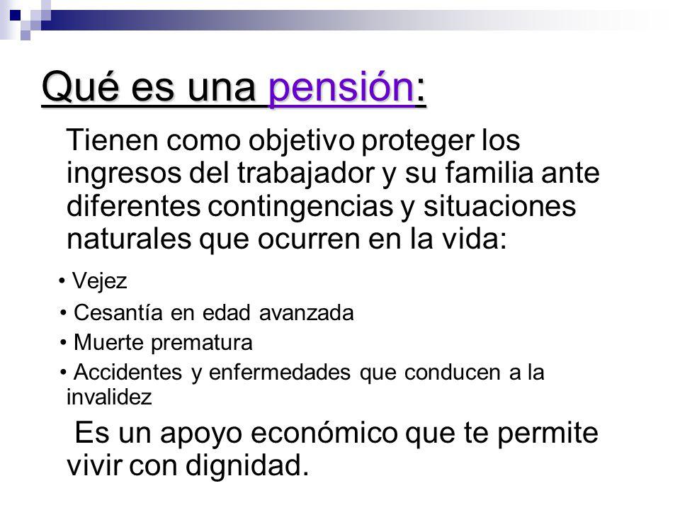 Qué es una pensión: