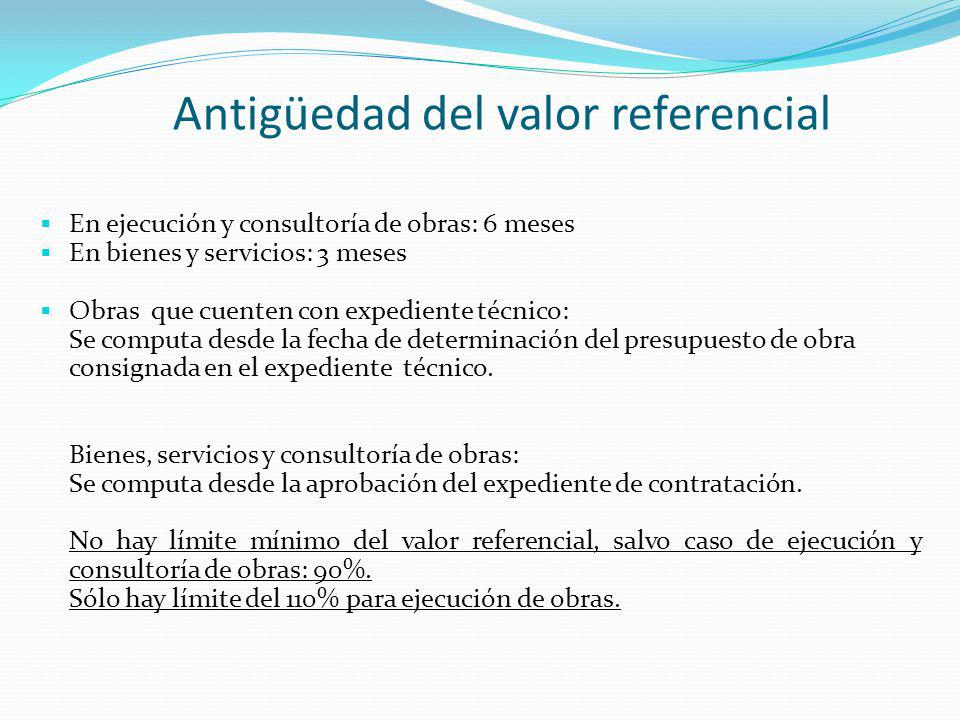 Antigüedad del valor referencial