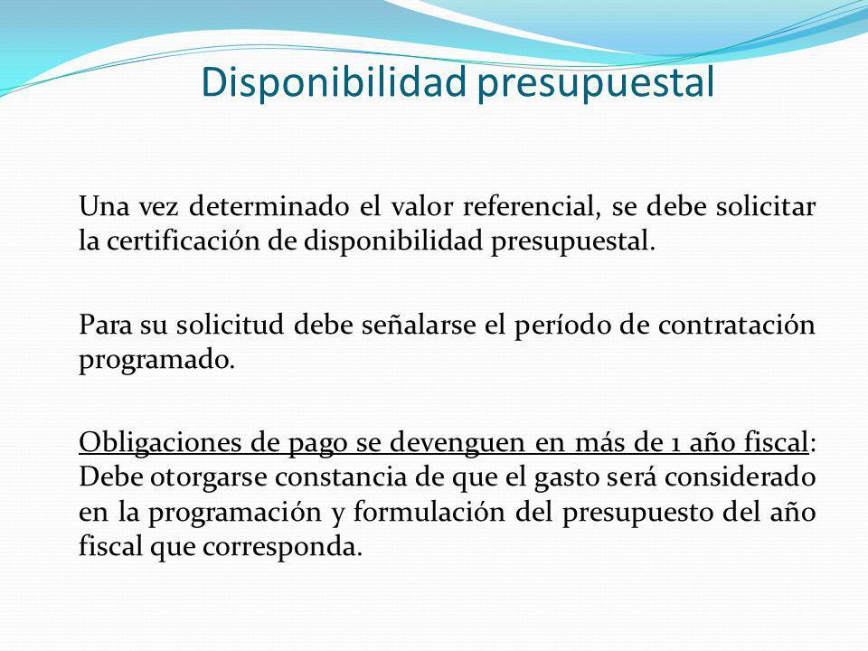 Disponibilidad presupuestal
