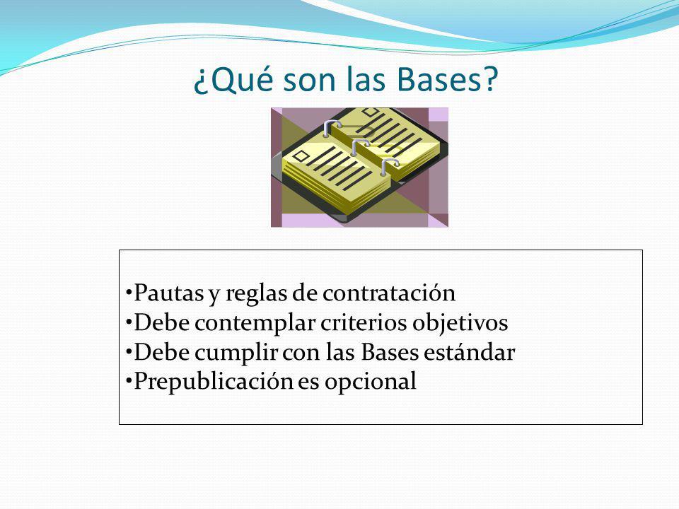 ¿Qué son las Bases Pautas y reglas de contratación