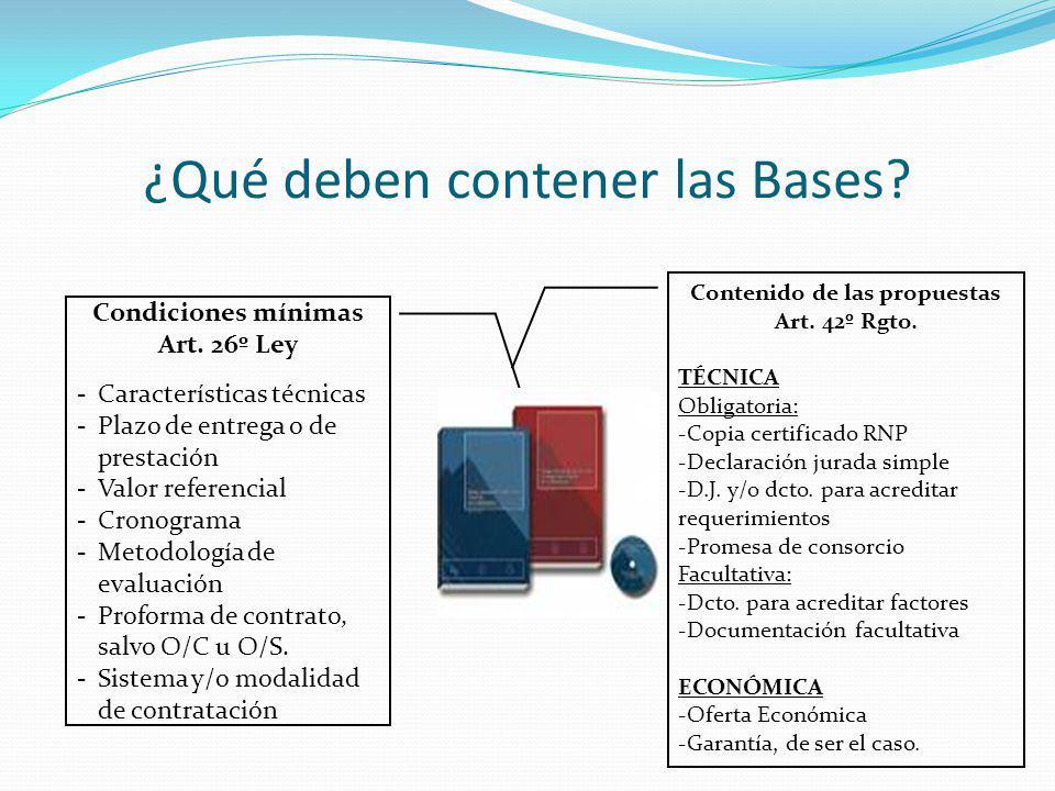 ¿Qué deben contener las Bases