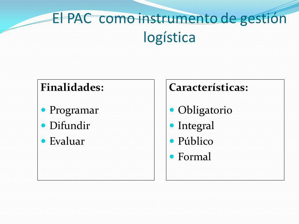 El PAC como instrumento de gestión logística