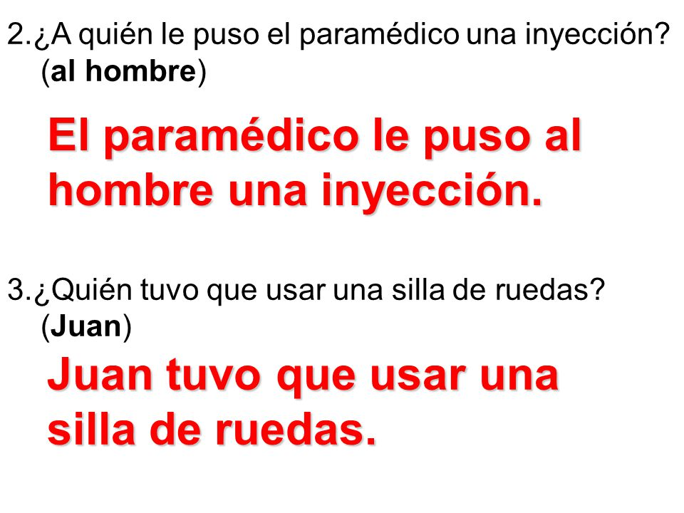 El paramédico le puso al hombre una inyección.