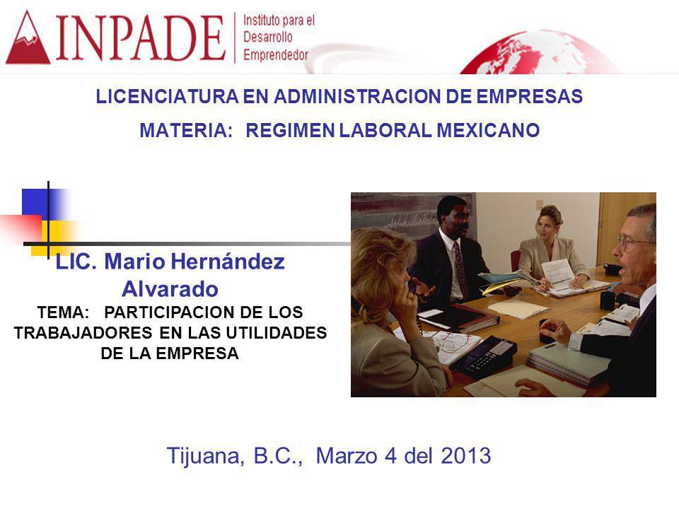 LIC. Mario Hernández Alvarado