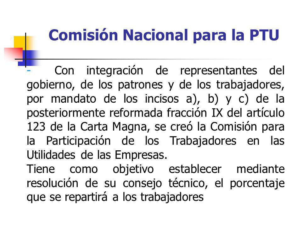 Comisión Nacional para la PTU