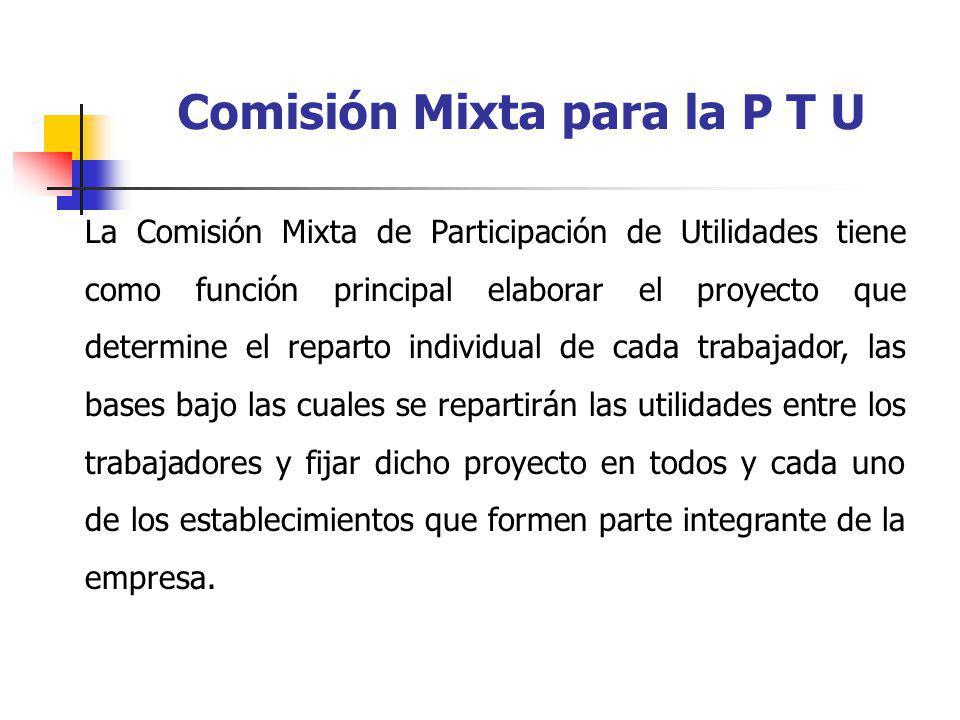 Comisión Mixta para la P T U
