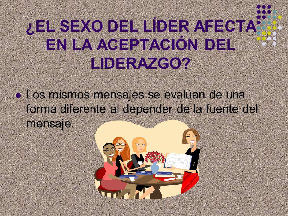¿EL SEXO DEL LÍDER AFECTA EN LA ACEPTACIÓN DEL LIDERAZGO