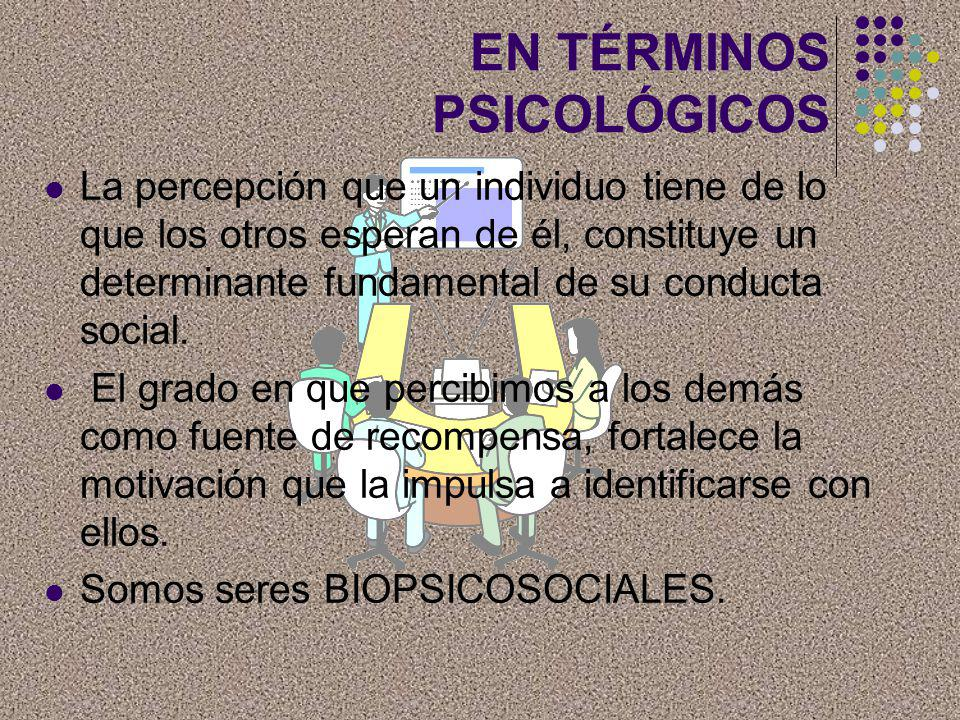 EN TÉRMINOS PSICOLÓGICOS
