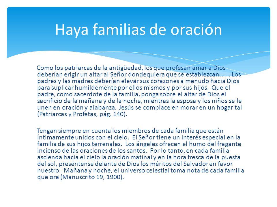 Haya familias de oración