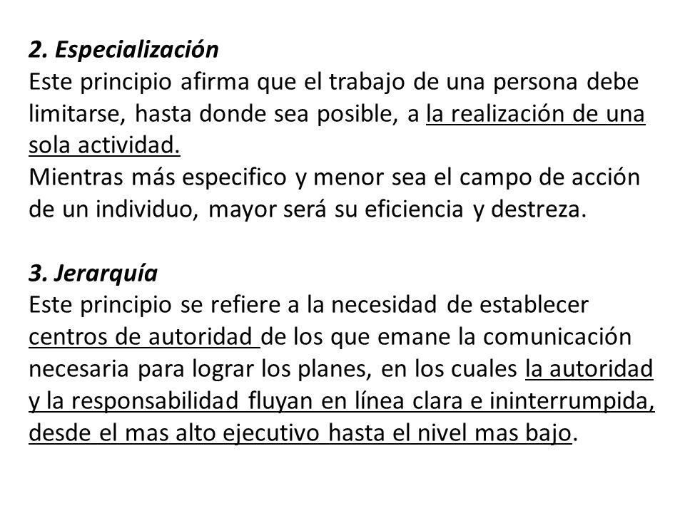 2. Especialización