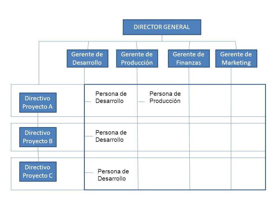 DIRECTOR GENERAL Gerente de Desarrollo Gerente de Producción