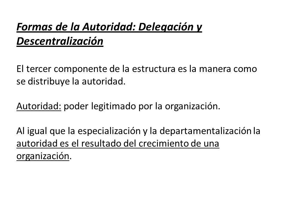 Formas de la Autoridad: Delegación y Descentralización