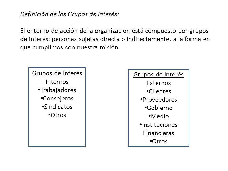 Definición de los Grupos de Interés: