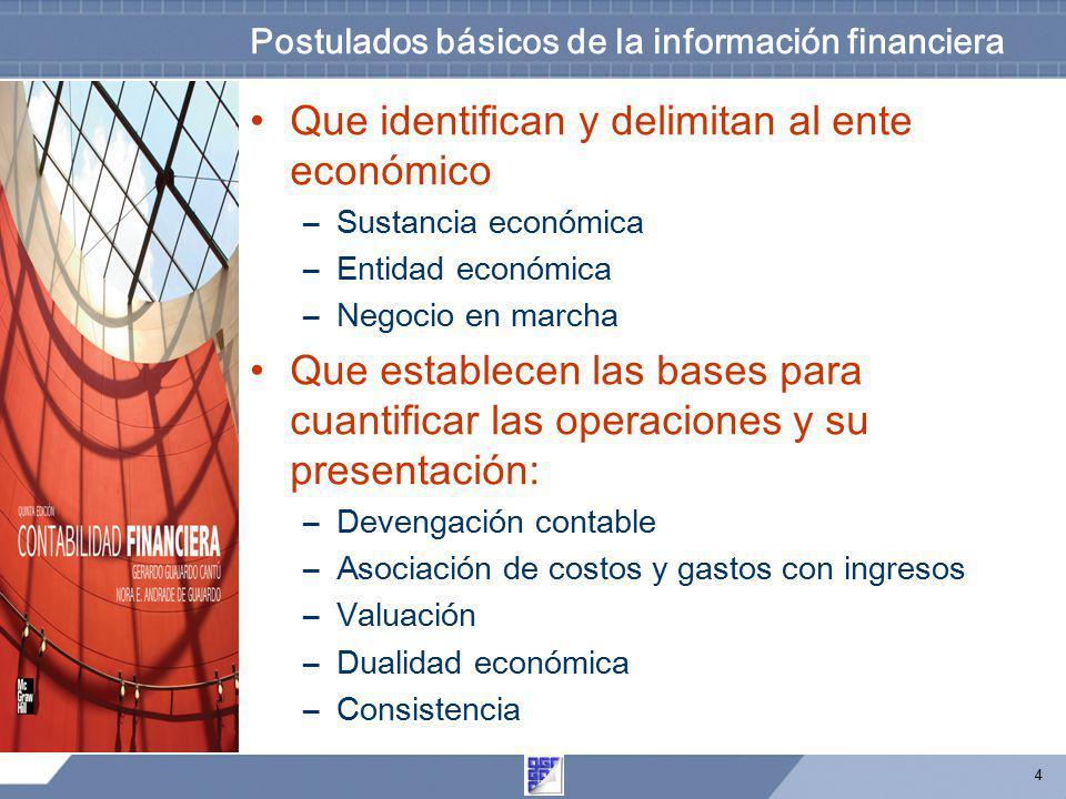 Postulados básicos de la información financiera
