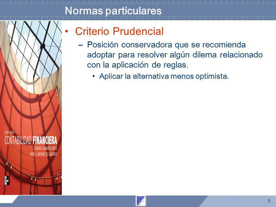 Normas particulares Criterio Prudencial