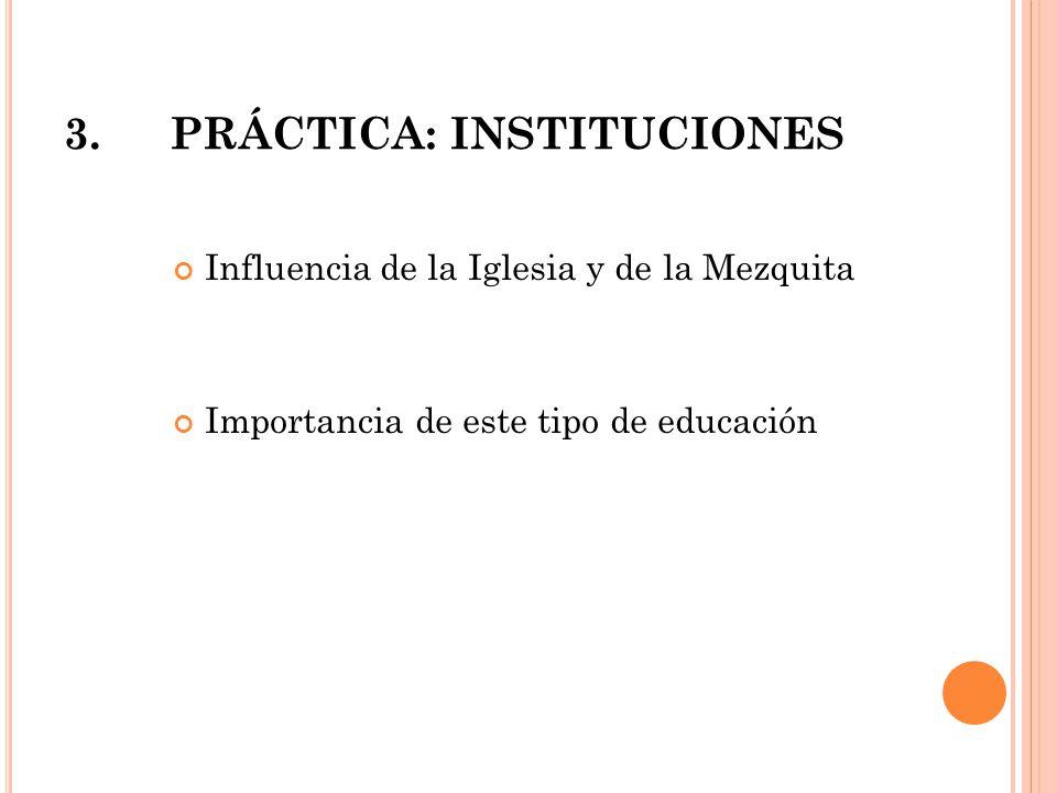 3. PRÁCTICA: INSTITUCIONES