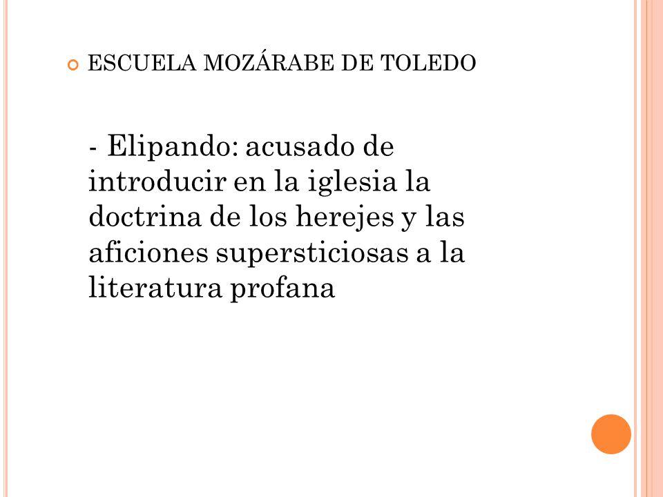 ESCUELA MOZÁRABE DE TOLEDO