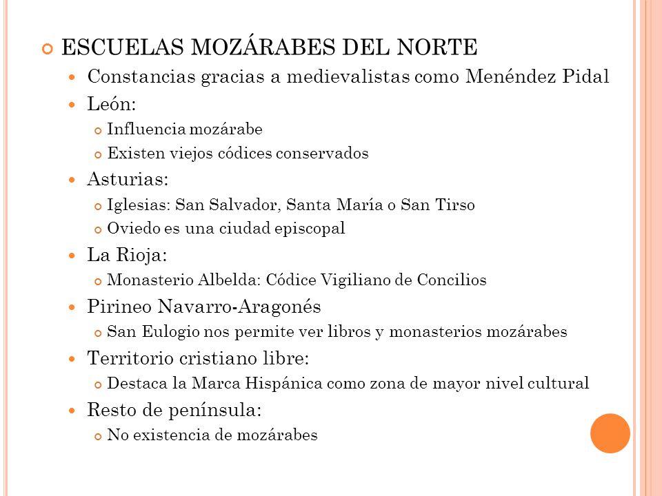 ESCUELAS MOZÁRABES DEL NORTE