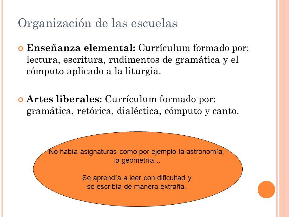 Organización de las escuelas