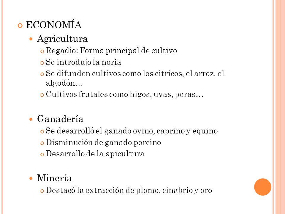 ECONOMÍA Agricultura Ganadería Minería