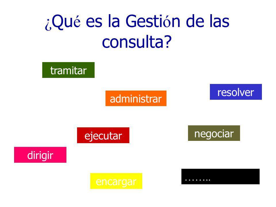 ¿Qué es la Gestión de las consulta