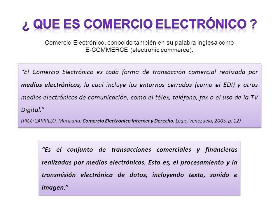 ¿ Que es comercio electrónico