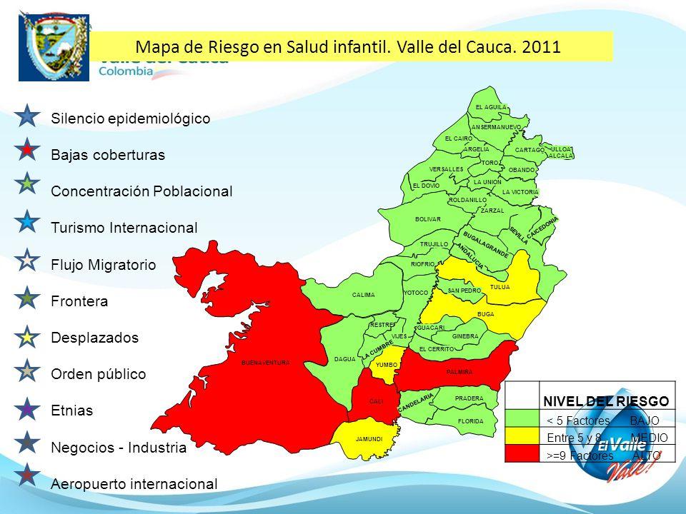 Mapa de Riesgo en Salud infantil. Valle del Cauca. 2011
