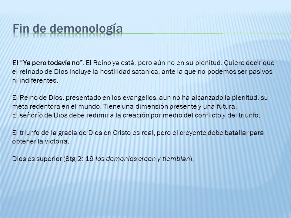 Fin de demonología