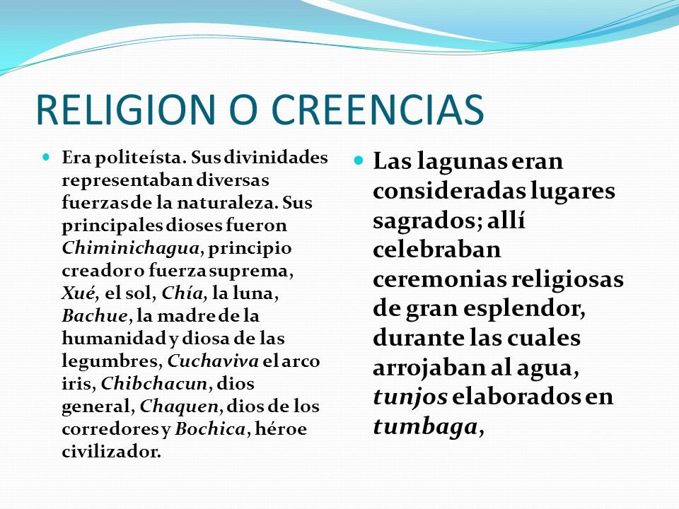 RELIGION O CREENCIAS